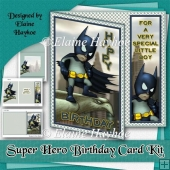 Super Hero Birthday Card Kit