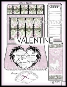 Cottage Chic Feminine Valentine Foldover Notelet Set
