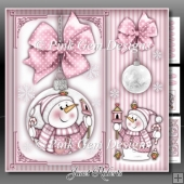 Chilly With Bird House Bauble Pink Mini Kit