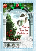 Home for the Holidays Christmas Backing Background Paper