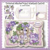 Christmas Mischief Puppy Scalloped Card Kit