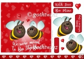 Bee Together Valentines Day 7x7 Quick Card With Insert