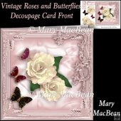 Vintage Roses and Butterflies