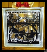 Christmas Window outlook sleigh ride scene for paper vinyl