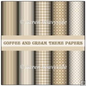 Coffee and Cream Theme Papers