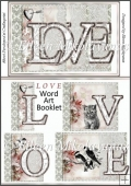 Cottage Chic LOVE Diecut Word Art Booklet in 2 Sizes