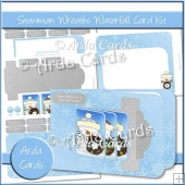 Snowman Wreaths Waterfall Card Kit