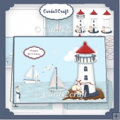 Landscape Lighthouse card set