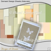 Damask Design Sheets (Naturals)