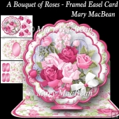 A Bouquet of Roses - Framed Easel Card