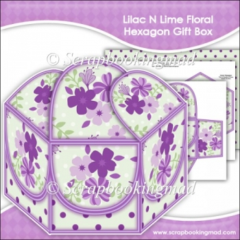 Lilac N Lime Floral Hexagon Gift Box