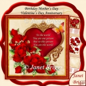 You Are the World Red Roses Verse 8x8 Kit