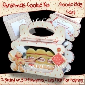 Christmas Cookie Kit Goodie Bag Card