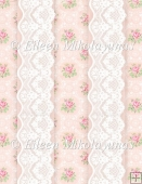 Rosebuds and Lace Backing Background Paper