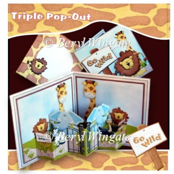 Go Wild Triple Pop-Out Card