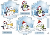 Winter animals toppers