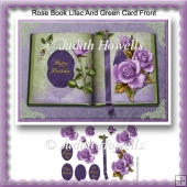 Rose Book Lilac And Green Card Front