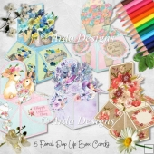 Floral Pop Up Box Card Bundle