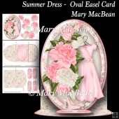 Summer Dress - Oval Easel Card
