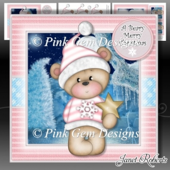 A Beary Merry Christmas Pink Mini Kit