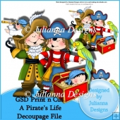 GSD Print n Cut A Pirate's Life 1 Decoupage Cutting File