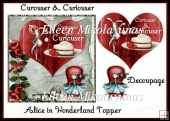 Curiouser and Curiouser Alice in Wonderland Card Topper