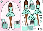 Teen Birthday Girl Boxes And Bags Ethnic Brunette In Mint