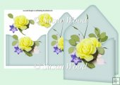 Envy Card with Decoupage lemon floral and eau de nil bg