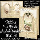 Teddies in a Basket Arched Window Mini Kit