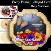 Pretty Pansies - Shaped Card