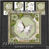 Vintage Lace Flowers Butterfly Card Kit 1250