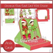 Christmas Elves Easel Card With Drawer
