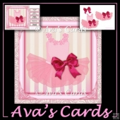 Ballerina Bow Dress Card Front