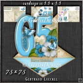 Vintage Easel 65th Birthday Card Kit 1180