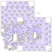 Lilac Wedding Anniversary Bells 5x5 Square Box