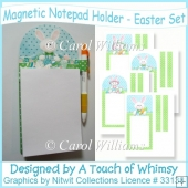 Magnetic Notepad Holder - Easter Set