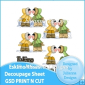 GSD Print n Cut Eskimo Kisses Decoupage File