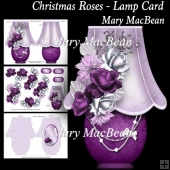 Christmas Roses - Lamp Card