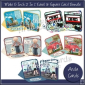 Male 5 Inch 2 in 1 Easel & Square Card Bundle
