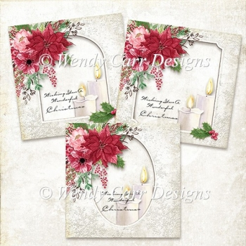 READY TO PRINT 7 INCH SQUARE CARDS - CHRISTMAS BEAUTY
