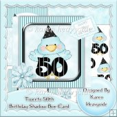 Tweets 50th Birthday Shadow Box Card