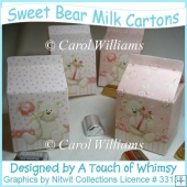 Sweet Bear Milk Cartons