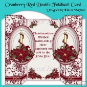 Cranberry Red Double Foldback Card
