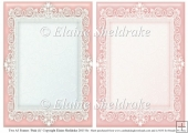 2 x A5 Pink (1) Lace Frames for Card Making & Scrapbooking