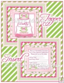 Birthday Party Topper and Invitation Insert