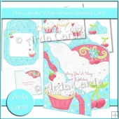 Hey Cupcake Wrap Around Gatefold Card