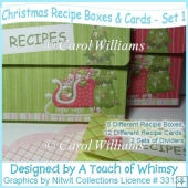 Christmas Recipe Boxes & Cards - Set 1