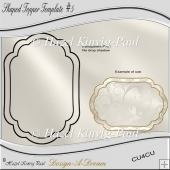 Shaped Topper Template #5