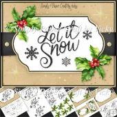 Christmas Word Art 6x8 Mini Kit 6