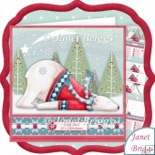 CHILLED POLAR BEAR 8x8 Christmas Decoupage & Insert Kit
